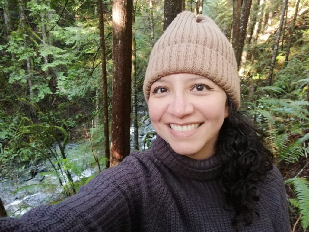 Natalia on a hike in nature
